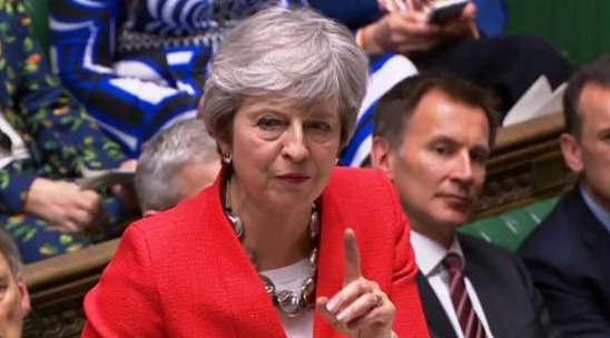 """英国议会以312-304票否决无协""""脱欧"""