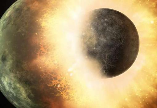 行星碰撞可以降低行星的内部压力