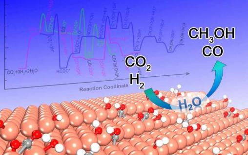 水可以调节二氧化碳还原的活性和选择性