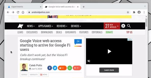 最新的Chrome Canary和Dev版新的测试功能隐藏地址栏详细地址