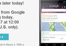 Nexus4将于美国太平洋标准时间今天中午12点重新在美国销售