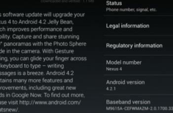 Nexus4和Nexus10推出了Android421OTA更新