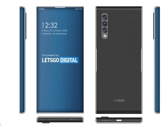 Oppo Find X3 Pro 5G手机具有超弯曲的显示屏