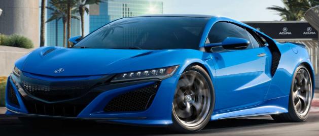 2021Ac歌NSX带有长滩蓝色珍珠漆看起来具有复古感