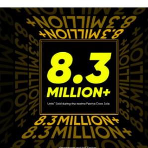 在节日期间荣耀售出了830万部智能手机