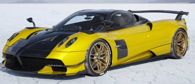 帕加尼Huayra BC Roadster可视化器创建您的构建视频