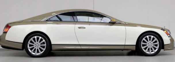 超稀有的迈巴赫57S双门轿跑车是V12米色富豪售价116万美元