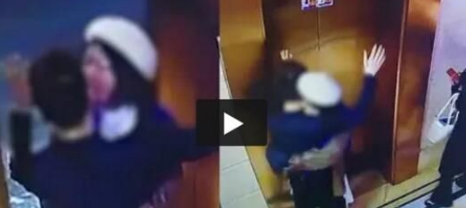 浙江一男子在电梯口被陌生女子强吻搂抱当场吓懵 随后反应亮了