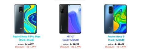 小米红米一些手机在市场的价格已打折高达3000卢比