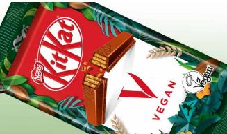 雀巢通过新的素食主义者KitKat酒吧扩展了植物性产品