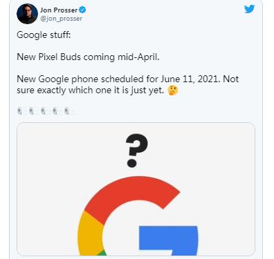 谷歌Pixel5a手机可能会在6月发布而新的Pixel Buds则会在4月发布