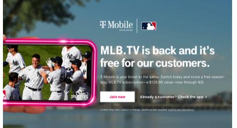 T移动客户可以免费流式传输MLB.TV