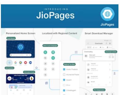 Reliance Jio启动具有个性化内容主题等的JioPages浏览器