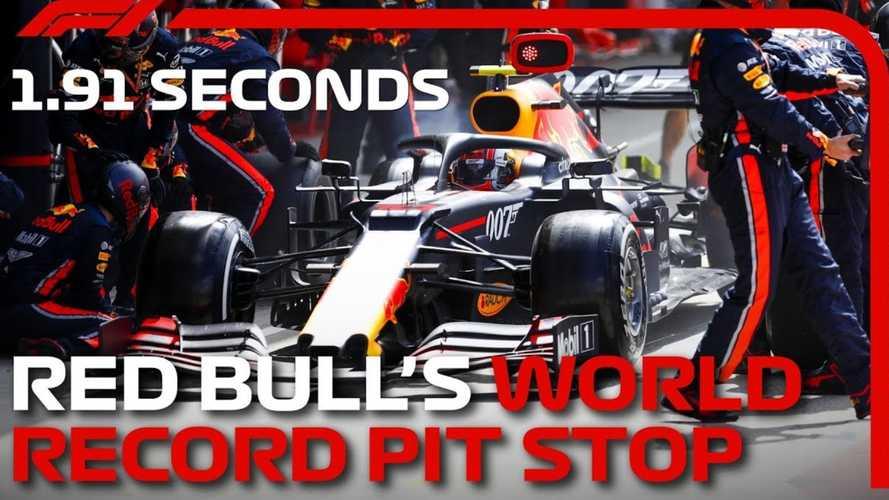 观看红牛队仅仅1.91秒即可创下F1进站纪录