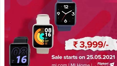 红米手表推出具有GPS和10天电池寿命价格为3999卢比