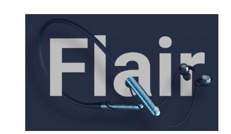 带触摸控制的NoiseFlair蓝牙颈带式耳机最长续航时间为35小时