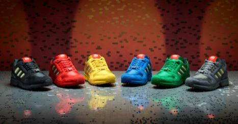 最新乐高和阿迪达斯鞋款合作款向经典乐高颜色致敬