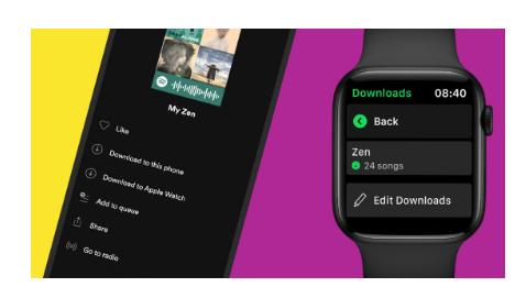 苹果手表上的Spotify为高级订阅者增加了下载和离线播放功能