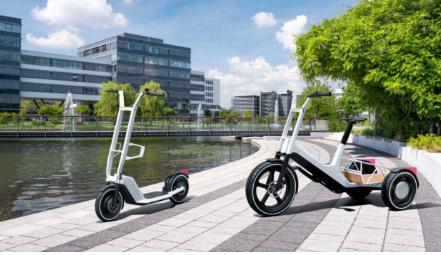 宝马展示电动滑板车和电动货运自行车概念